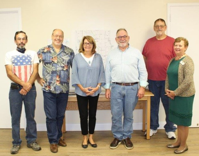 (left to right) Bill Karlsen, Mike Joslyn, Pam Helming, Tom Bouchard, Joe Brodnicki, Sue Ellen Balluff